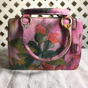 Vintage leather floral bag Sunny Hawaii